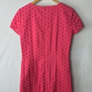 Brooks Brothers Dresses - Brooks brothers eyelet sheath dress pink 2